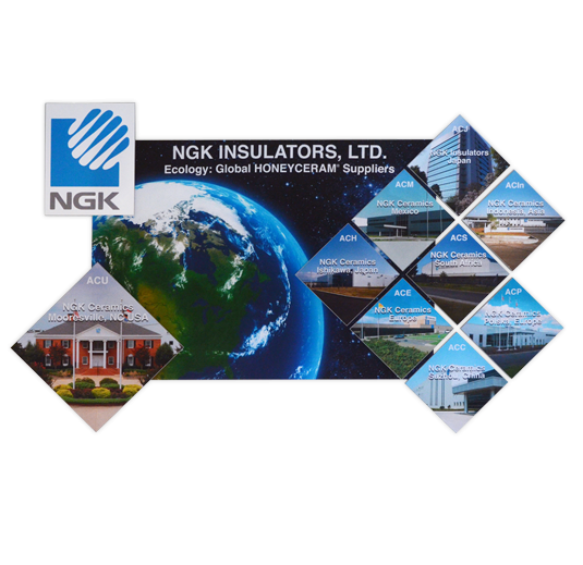 Case Study: NGK Ceramics, USA, 3-Dimensional Wall Graphics